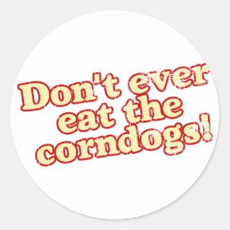 Corn Dogs Round Sticker