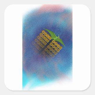 corn dogs square sticker