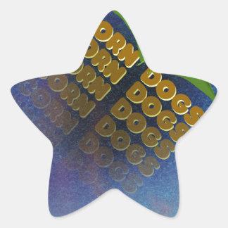 corn dogs star sticker