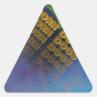 corn dogs triangle sticker