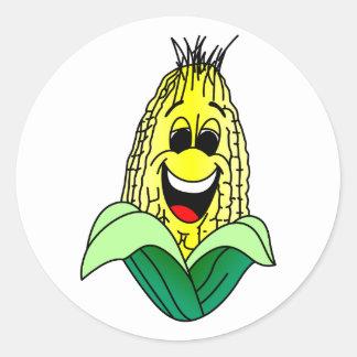 Corn Face Classic Round Sticker