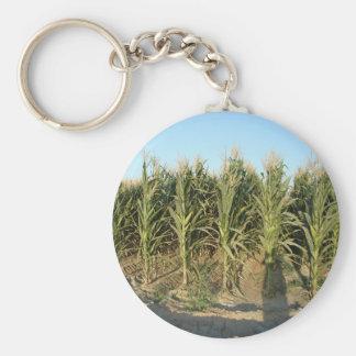 Corn Field Basic Round Button Keychain