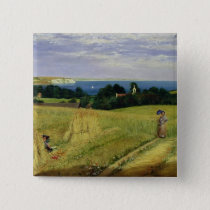 Corn Field in the Isle of Wight Button