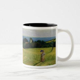 Corn Field in the Isle of Wight Two-Tone Coffee Mug