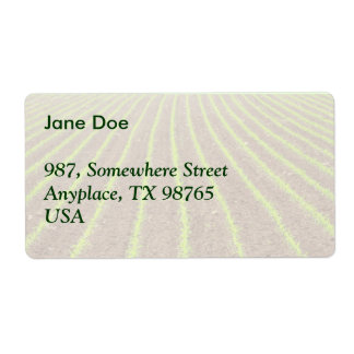 Corn field label