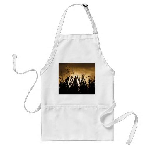 Corn field silhouettes adult apron