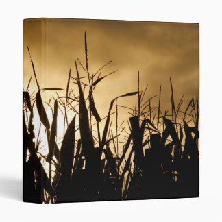 Corn field silhouettes binder