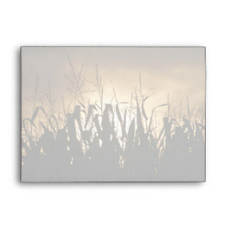 Corn field Silhouettes Envelope