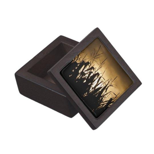 Corn field silhouettes jewelry box