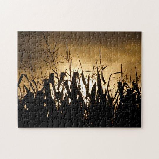 Corn field silhouettes jigsaw puzzle