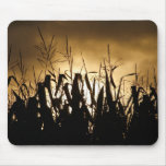 Corn field Silhouettes Mouse Pad