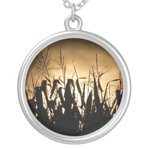 Corn field silhouettes pendants