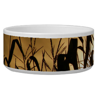 Corn field silhouettes pet water bowls