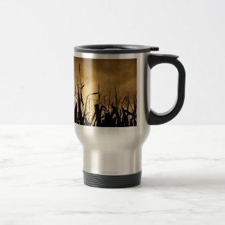 Corn field Silhouettes Travel Mug