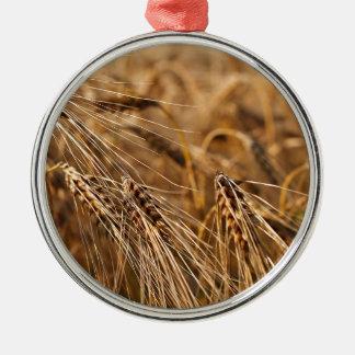 Corn field with grain metal ornament