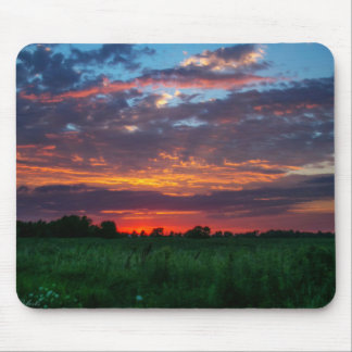 Corn fields adorned by sherbert skies Mouse pad