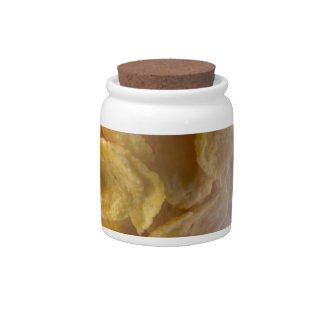 Corn flakes and glass of milk candy jar