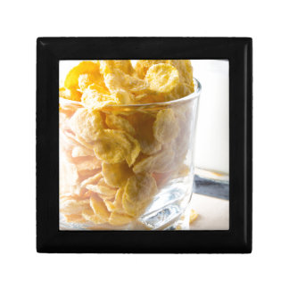 Corn flakes and glass of milk gift box