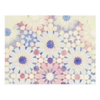 'Corn Flower' Islamic geometry postcard