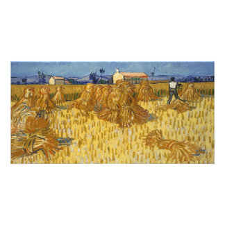 Corn Harvest in Provence by Vincent Van Gogh Card