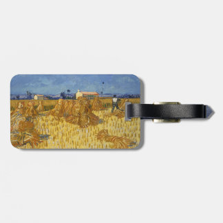 Corn Harvest in Provence by Vincent Van Gogh Tag For Luggage