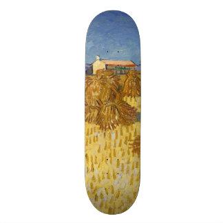 Corn Harvest in Provence by Vincent Van Gogh Skate Boards