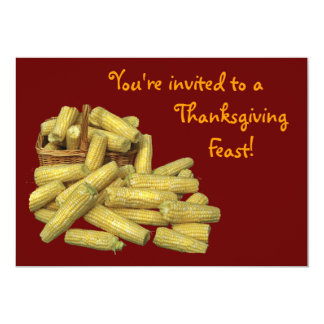 Corn Harvest Thanksgiving Card