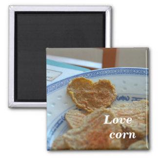 Corn heart 2 inch square magnet