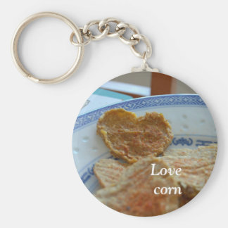 Corn heart key chains
