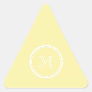 Corn High End Colored Personalized Triangle Sticker
