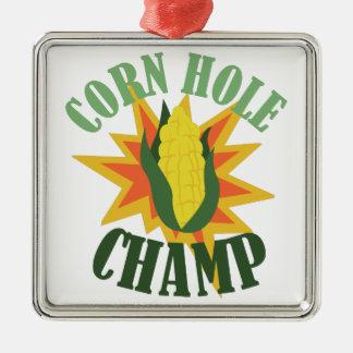 Corn Hole Champ Metal Ornament