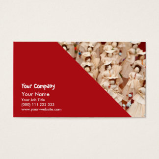 Corn husk dolls business card