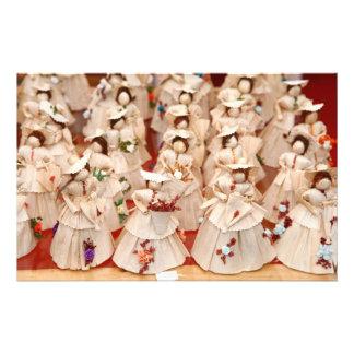 Corn husk dolls personalized stationery