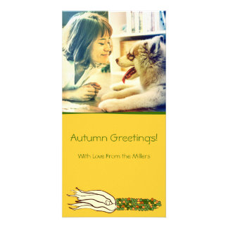 Corn Husks: Green Corn, Customized Photocard Card