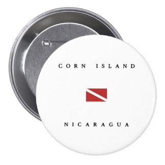 Corn Island Nicaragua Scuba Dive Flag Button