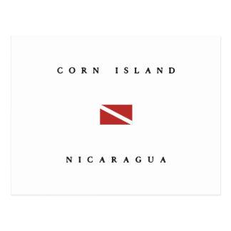 Corn Island Nicaragua Scuba Dive Flag Postcard