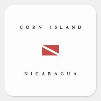 Corn Island Nicaragua Scuba Dive Flag Sticker