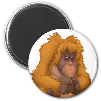 Corn-Jug-Playin' Orangutan Magnet