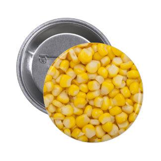 Corn kernel pinback button