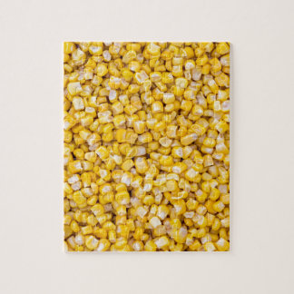 Corn macro as background structure jigsaw puzzle