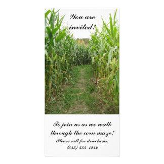 Corn Maze Invitation Card Photo Card