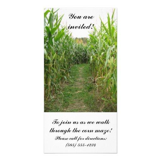 Corn Maze Invitation Card Picture Card