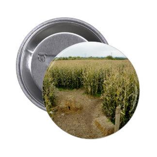 Corn Maze Pinback Button