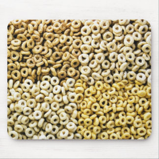 Corn Oats Rice Wheat Cereal Rings Composed In Squa Mousepad