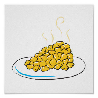 corn on a plate poster