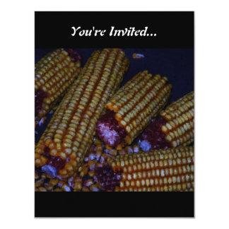 Corn on the Cob Art Card