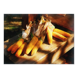 Corn on the Cob at Outdoor Market Card