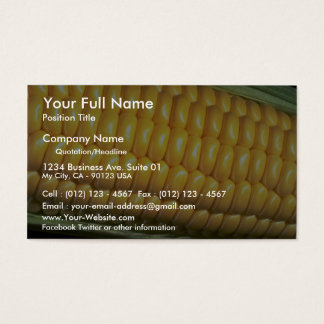 Corn on the cob business card