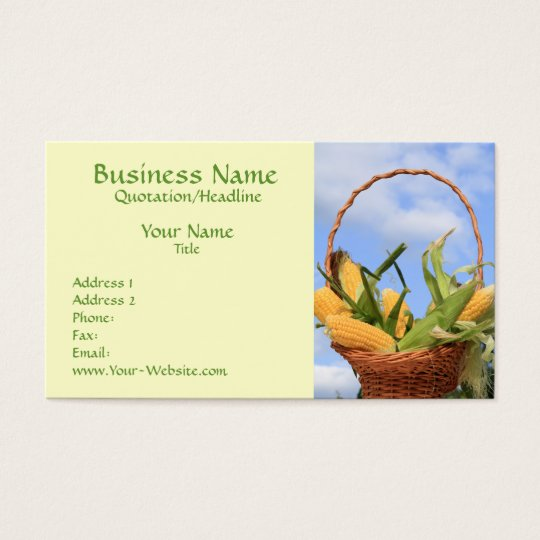 Corn on the Cob Business Card