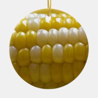 Corn On The Cob Ceramic Ornament